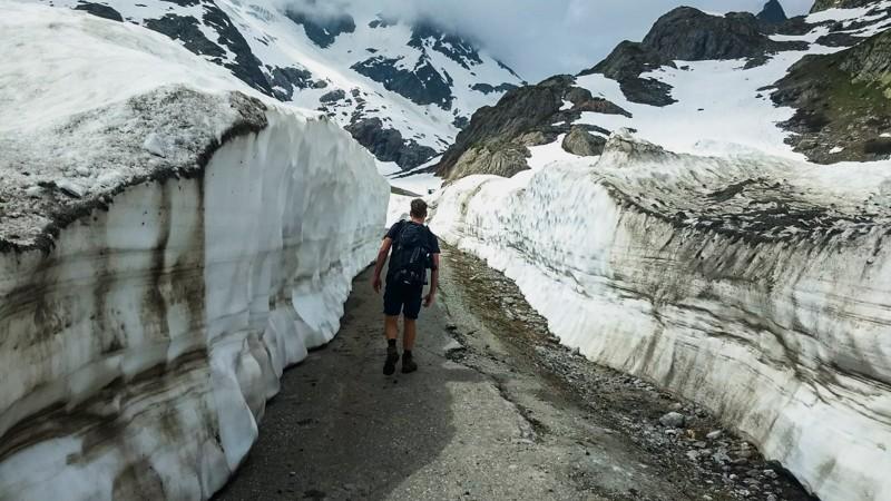 Sneeuwwanden steingletsjer
