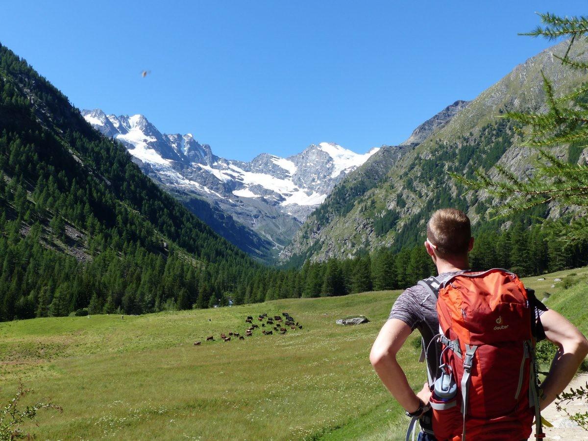 Eerste wandeldag vanuit het dal bij Cogne.
