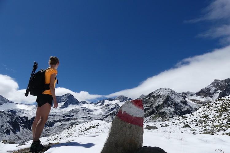 Sneeuw in de Stubaier Alpen, Mutterbergersee