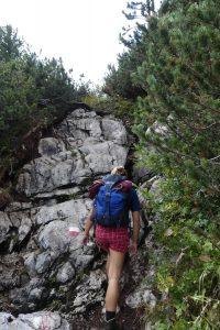 Klimmen na Lago di Sorapis in de Dolomieten