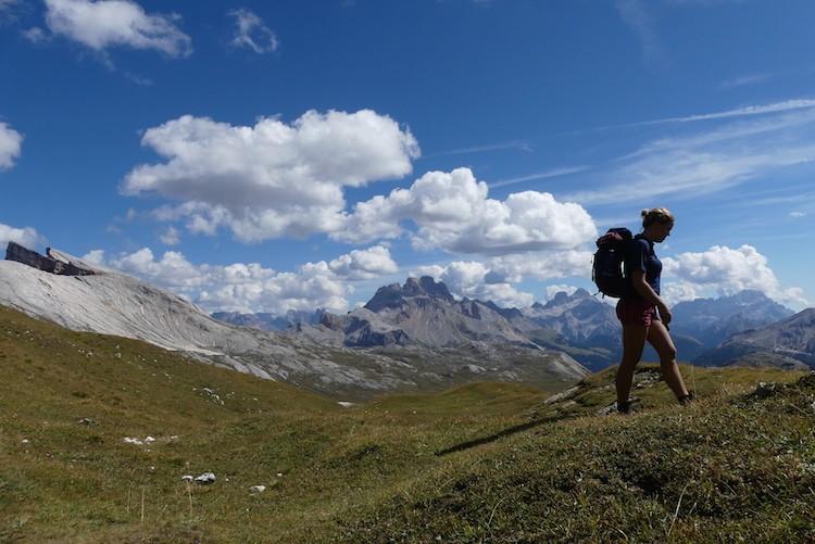 Mooie wolkenluchten in de Dolomieten