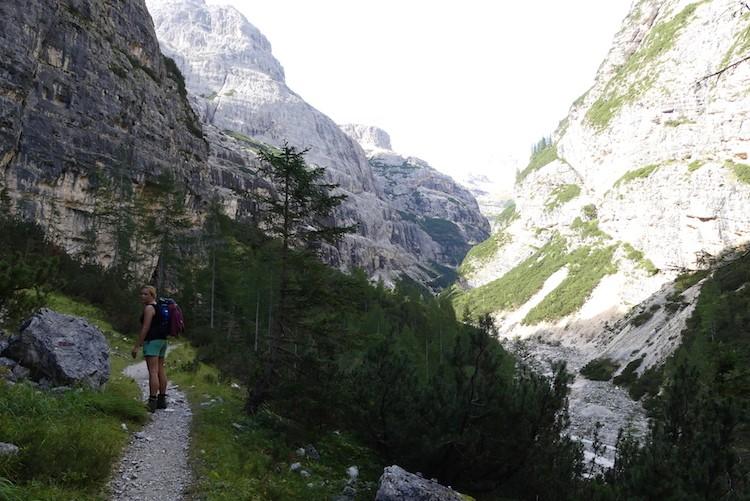 Hiking terug naar Falzarego