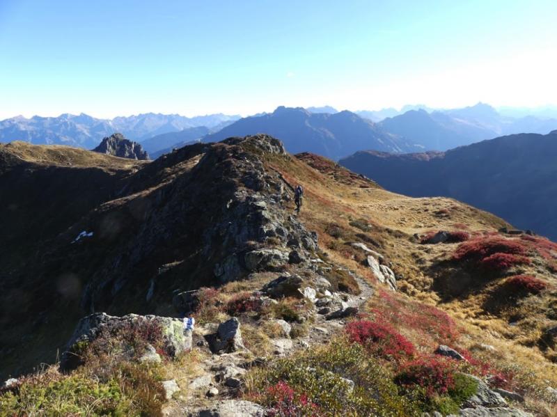 Herfstkleuren op de Walser Alpjoch.