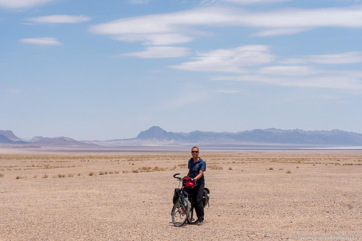 Jeroen Kleiberg in de woestijn