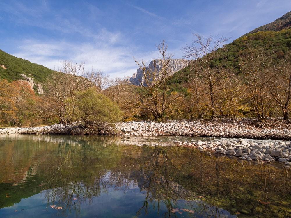 Zagori regio rivier