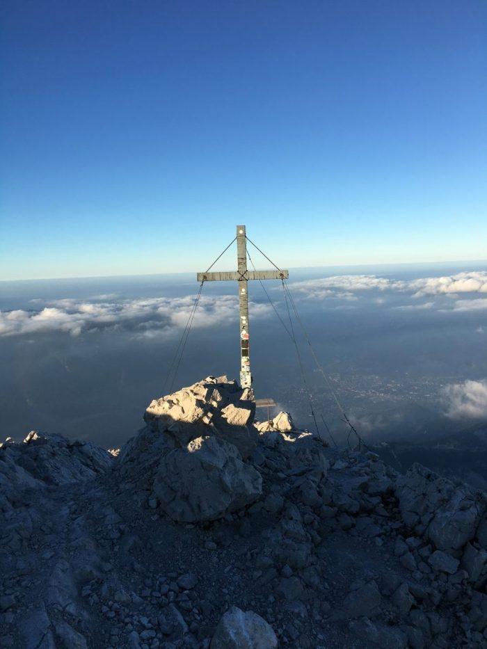 De top van de Alpspitze