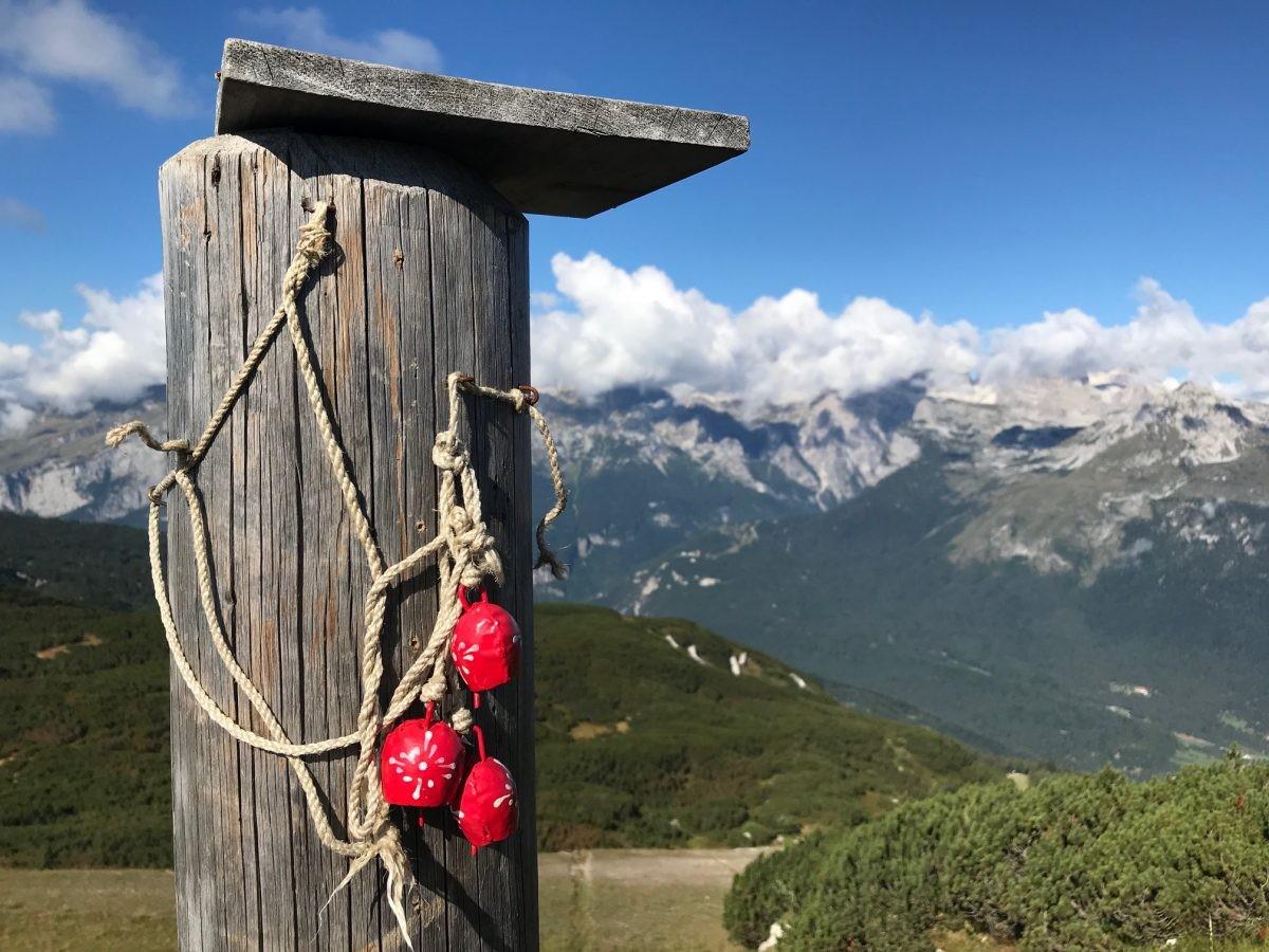 Op de top van de Paganella, Cima Pagnella 2000m