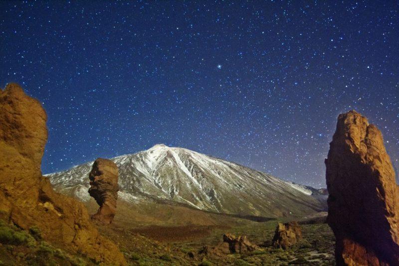 Sterrenhemel boven Tenerife. Herken je mijn hike Roques de García?