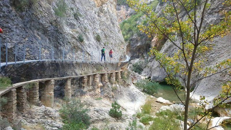Hiken in Alquezar in Spanje