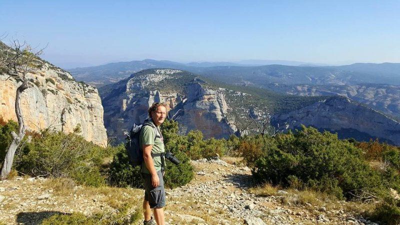 Hiken in Alquézar in Spanje
