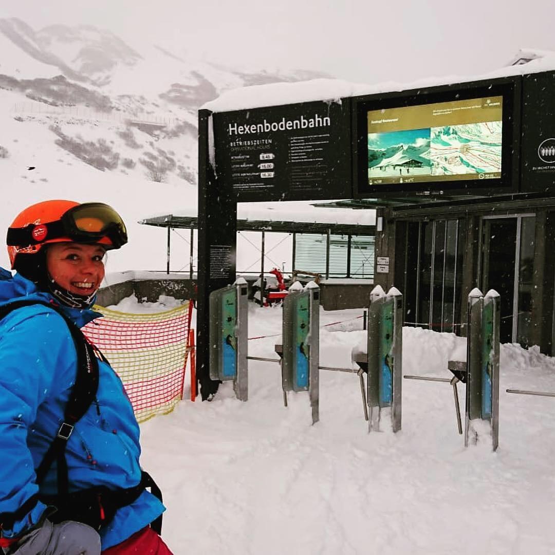 Arlberg sneeuw