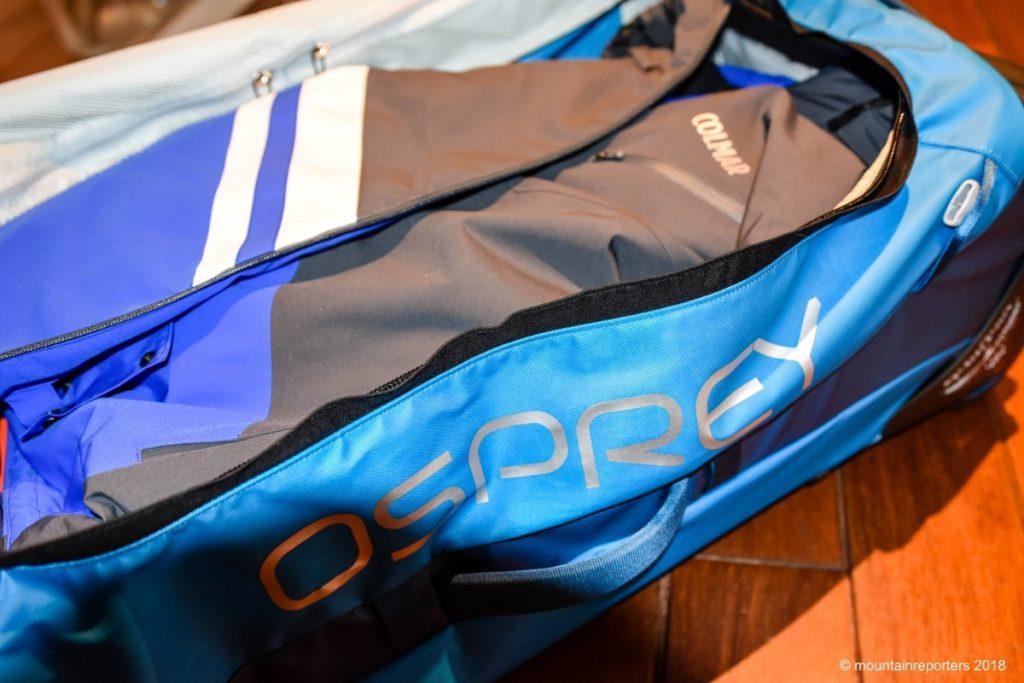 Blauwe duffel van Osprey