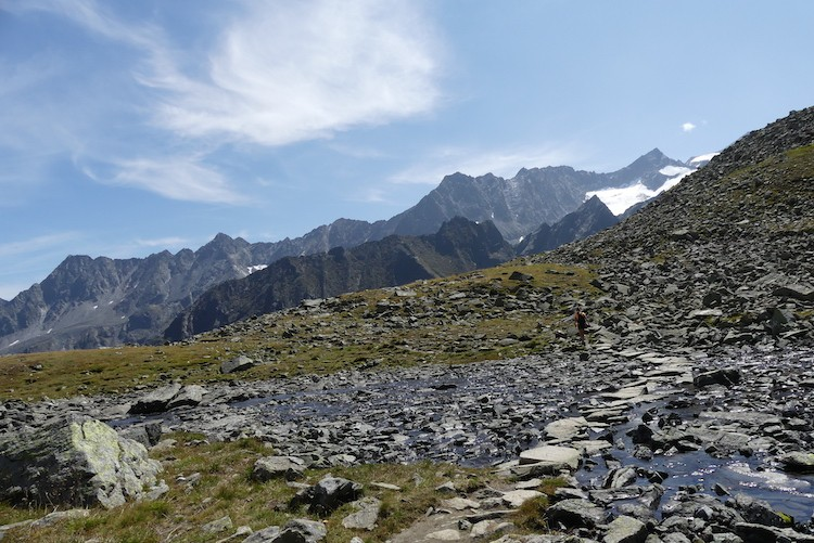 Tijd om afscheid te nemen van de bergen, de Rinnensee, Stubaital