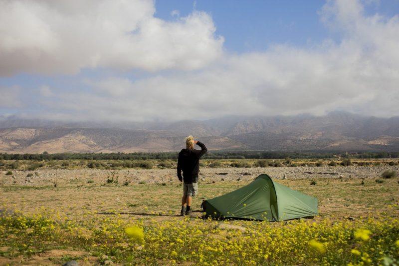 Kamperen naast de Souss in Marokko