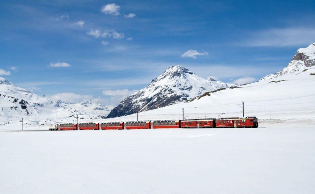 Rhätische Bahn zwitserland trein