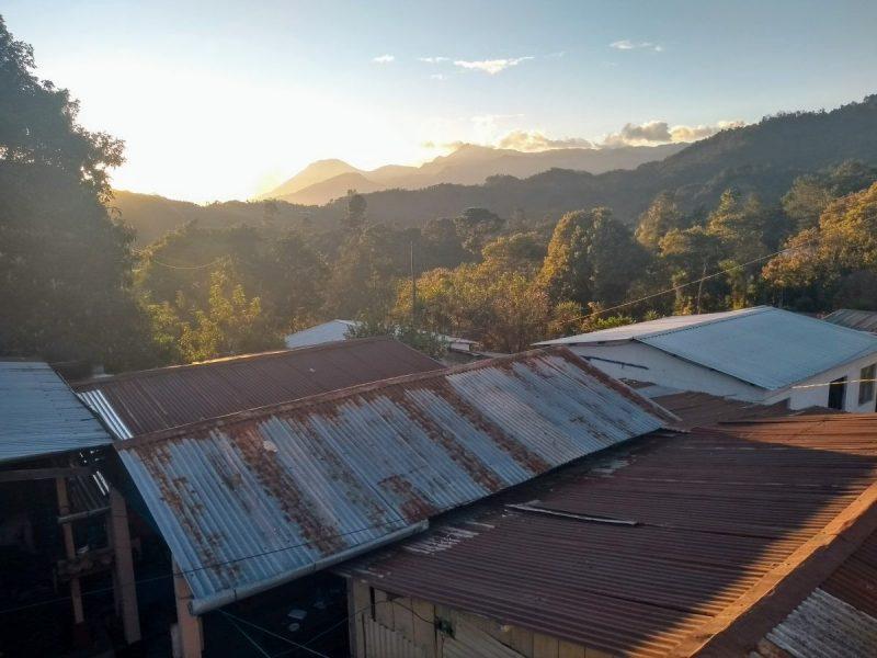 Uitzicht vanuit de Temazcales