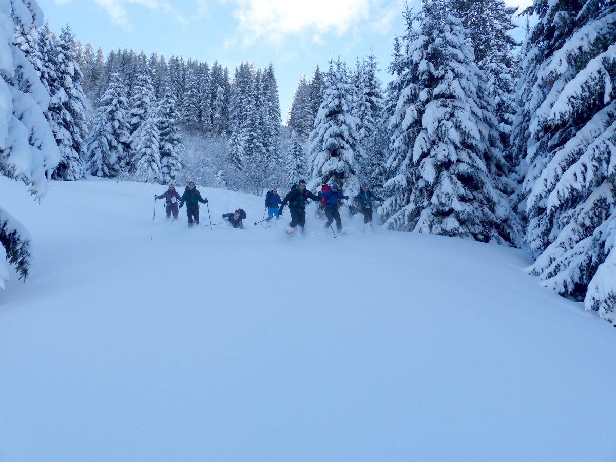 In de sneeuw spelen en lekker rennen. Foto: Bart Geelhoed