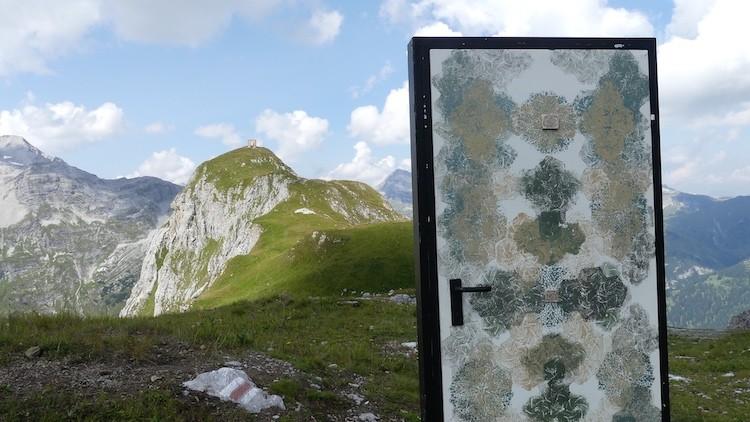 """Het """"Türe"""" kunstproject bij Lech, Grüne Ring"""
