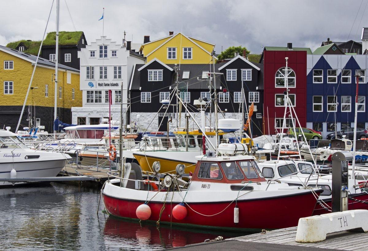 Het gezellige stadje Torshavn