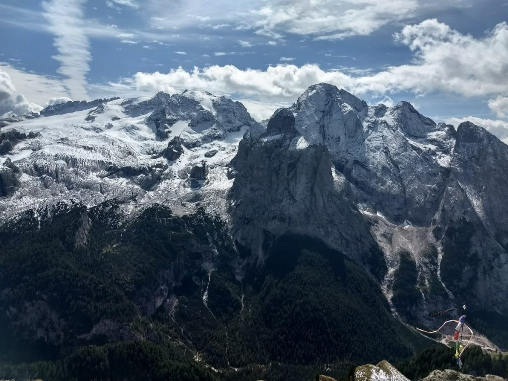 Uitzicht vanaf rifugio Viel Dal Pan. Foto: Sietske Mensing