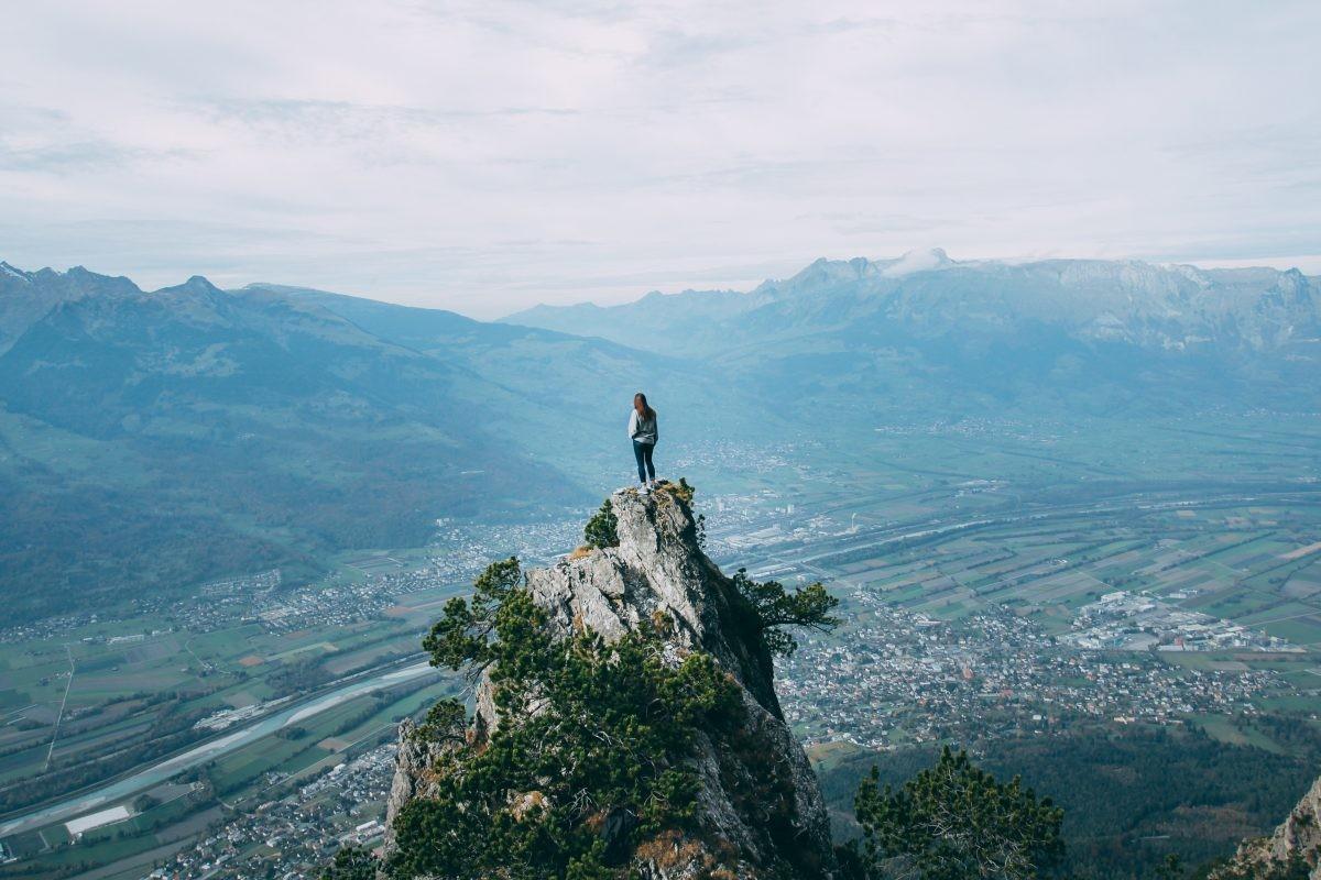 Wat een uitzicht, ook in Liechtenstein
