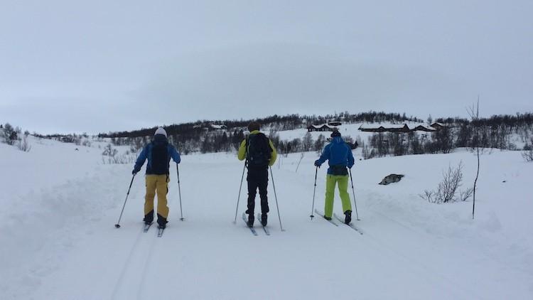 Hier liepen we nog in de loipes in Geilo Noorwegen