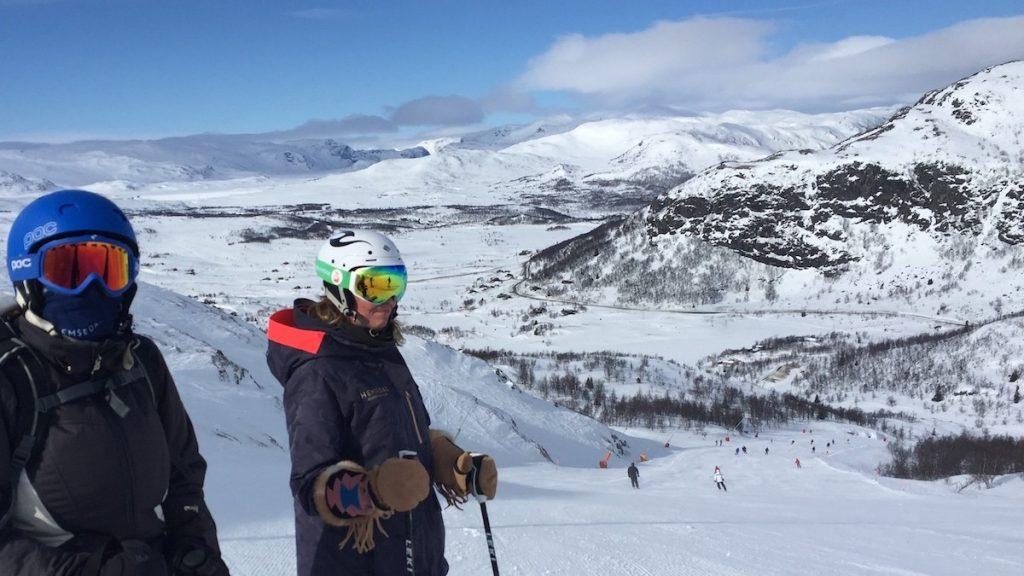 Prachtige uitzichten in Hemsedal Noorwegen.
