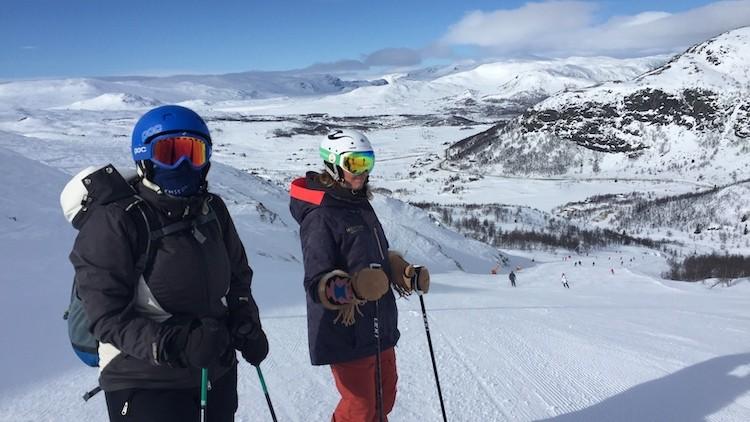 Er kan wel een flinke wind staan in Hemsedal Noorwegen