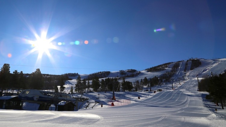 Zon en goed geprepareerde pistes is perfectie in Geilo Noorwegen