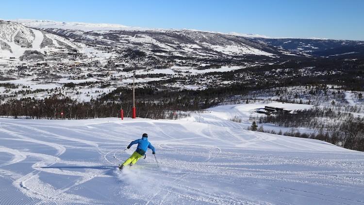 Brede, rustige pistes die uitnodigen om te carven in Geilo Noorwegen