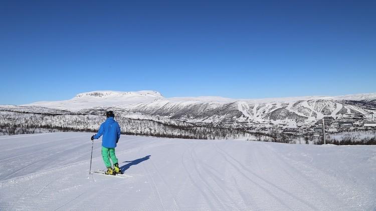 De uitgestrektheid bij Geilo Noorwegen
