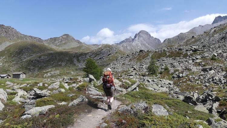 Chalet de l'Epee is in zicht Gran Paradiso Italië