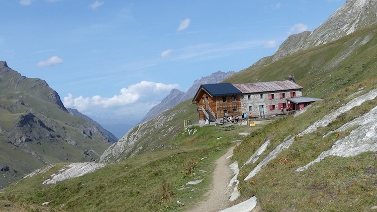 Onze laatste hut; Rifugio Benevolo Gran Paradiso