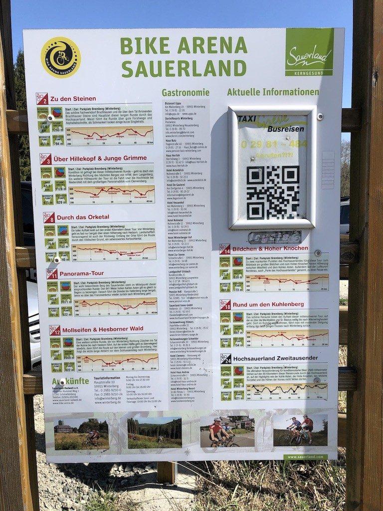Mountainbiken in het Duitse gebied Sauerland: Winterberg