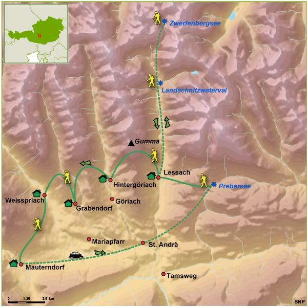 SNP route door Lungau