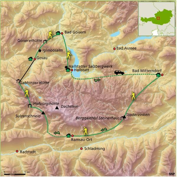 SNP route door het Dachsteinmassief