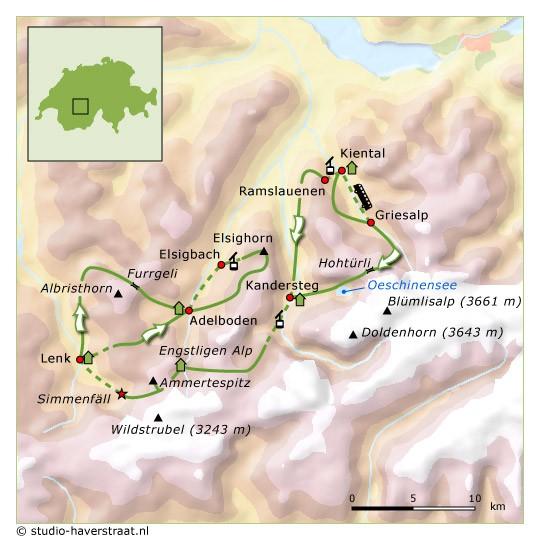 SNP route Berner Oberland