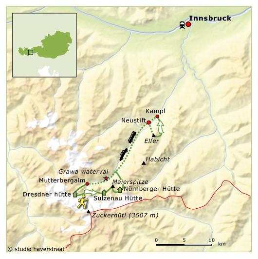 SNP route door het Stubaital