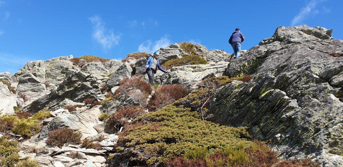 Beklimmen van de Mont Gerbier de Jonc.