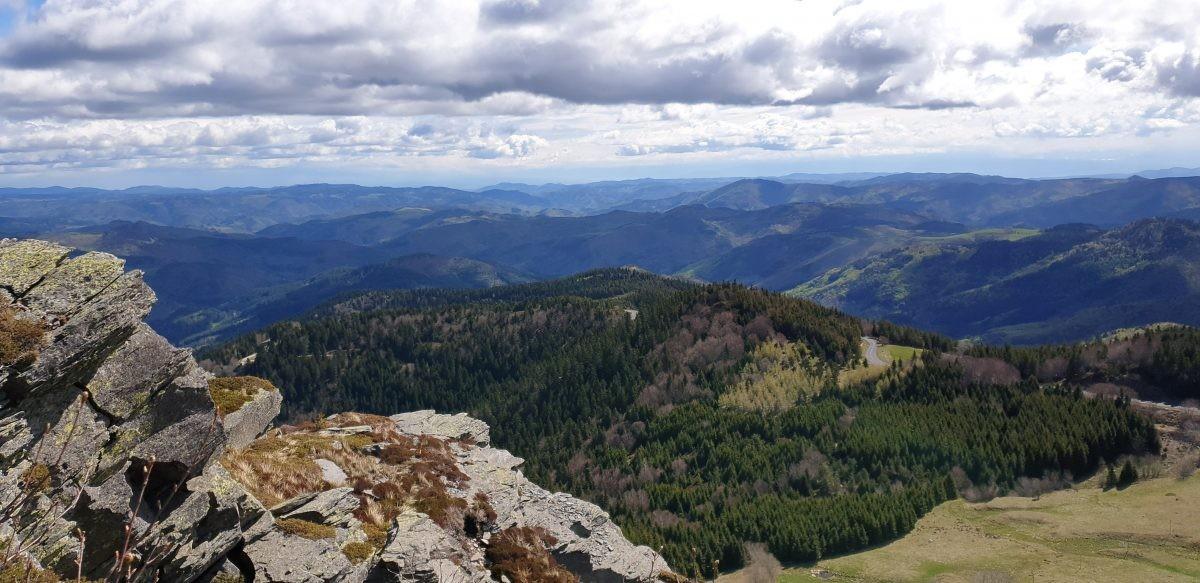 itzicht vanaf de Mont Gerbier de Jonc.