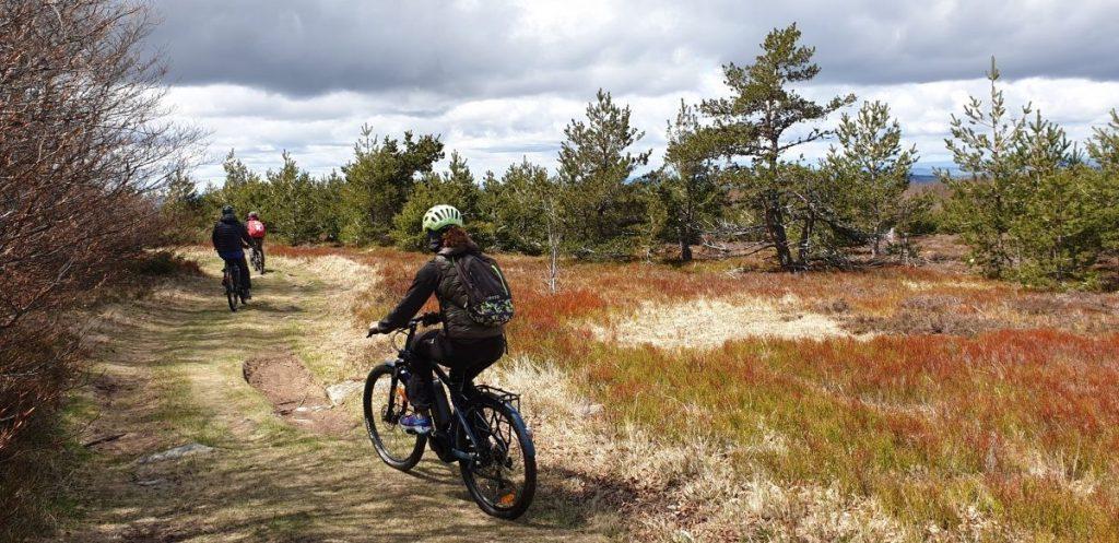 Met de e-mountainbike over de Grande Traversée de l'Ardéche