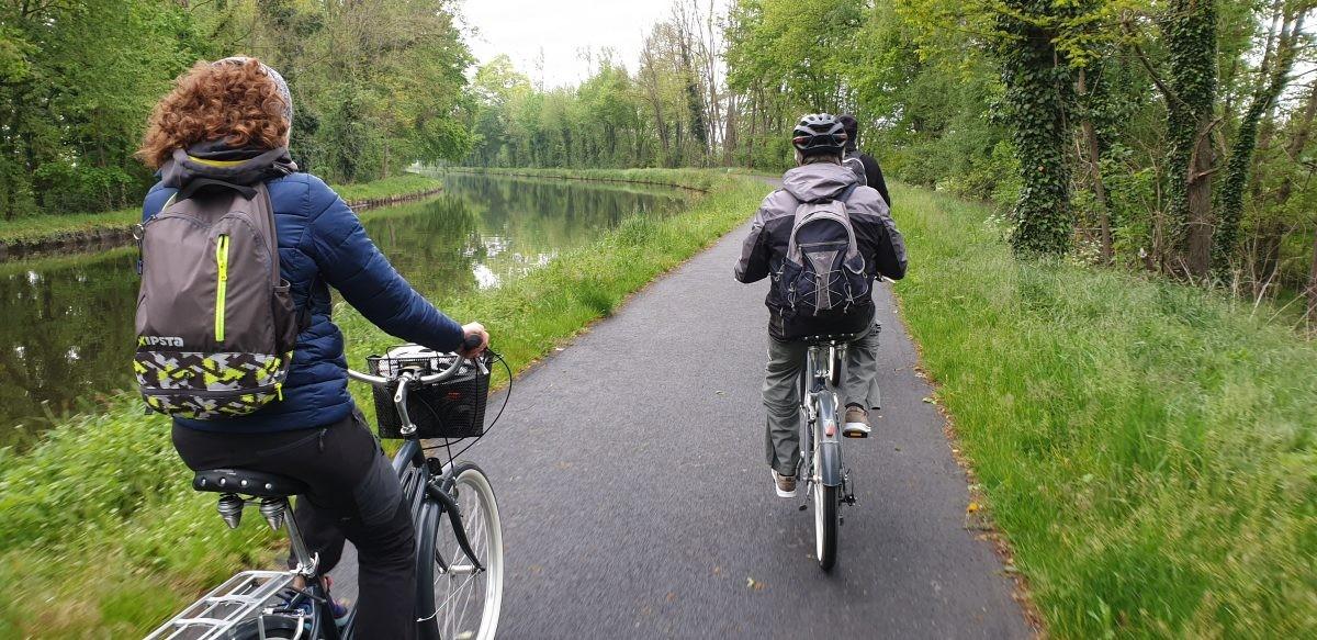 Vlakke fietsroute in de Ardèche,