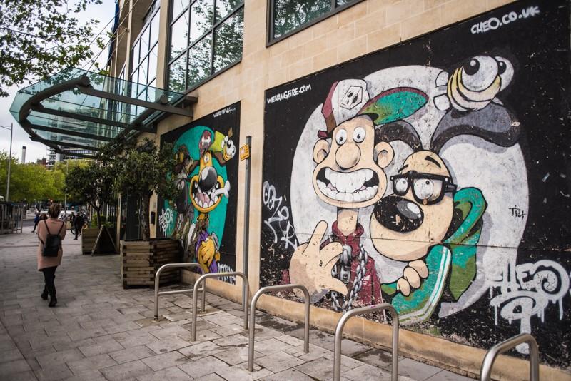 Graffity Street Art in Bristol zorgt voor een kleurrijke binnenstad