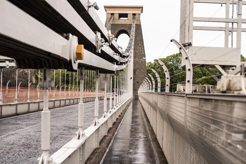 Op de Clifton Suspension Bridge