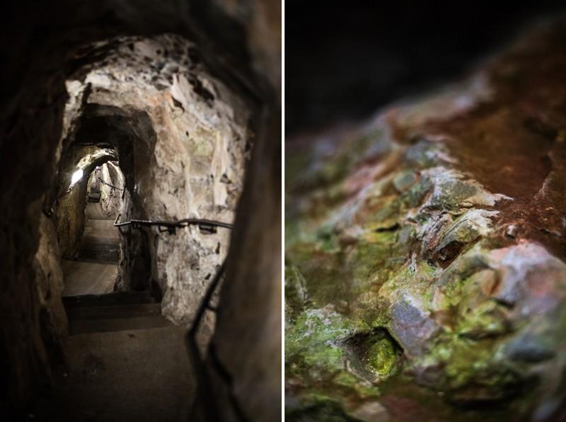 In de grot vlakbij Clifton Suspension Bridge, Bristol