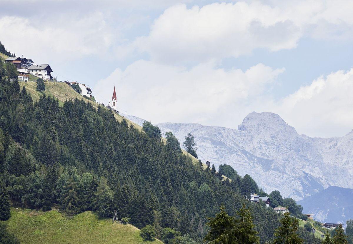 Het dorp dorp Sellrain ligt op 900 meter. Foto: Christian Vorhofer