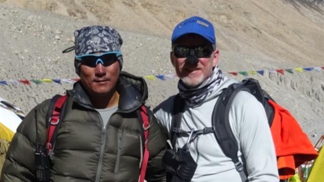 Wilco met sherpa Dawa