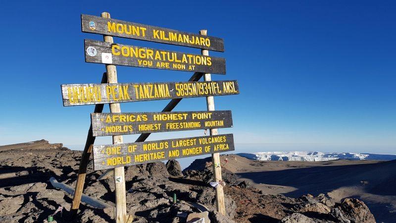 De top van de Kilimanjaro