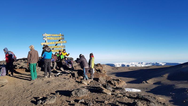 Drukte op de summit