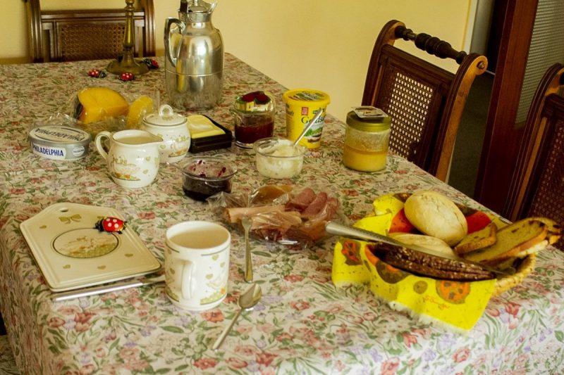 Een heerlijk ontbijt. Gewoon omdat ik te gast ben.